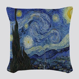 The Starry Night Woven Throw Pillow
