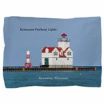 Kewaunee Pierhead Lights Pillow Sham