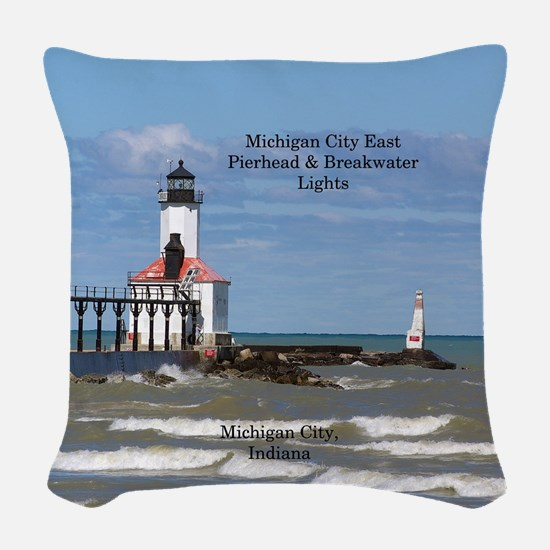 Michigan City East Pier & Bkw Woven Throw Pill
