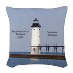 Manistee North Breakwater Light Woven Throw Pillow