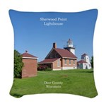 Sherwood Point Lighthouse Woven Throw Pillow