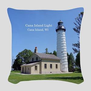 Cana Island Light Woven Throw Pillow