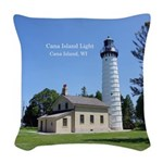 Cana Island Light Woven Throw Pillow
