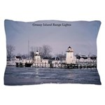 Grassy Island Range Lights Pillow Case