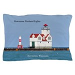 Kewaunee Pierhead Lights Pillow Case