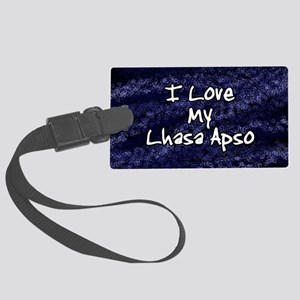 lhasa_funklove_oval Large Luggage Tag
