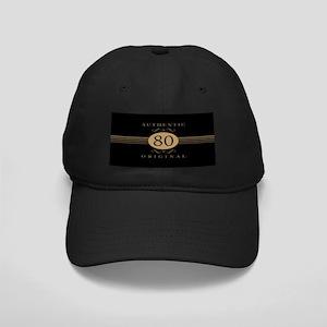 80th Birthday Humor Black Cap