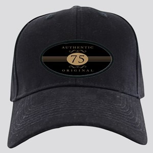 75th Birthday Humor Black Cap