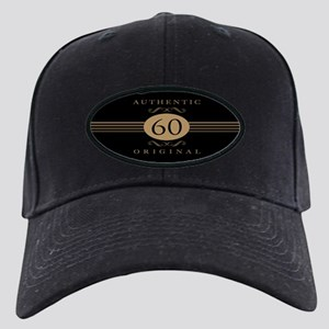 60th Birthday Humor Black Cap