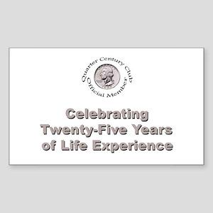 Quarter Century Rectangle Sticker