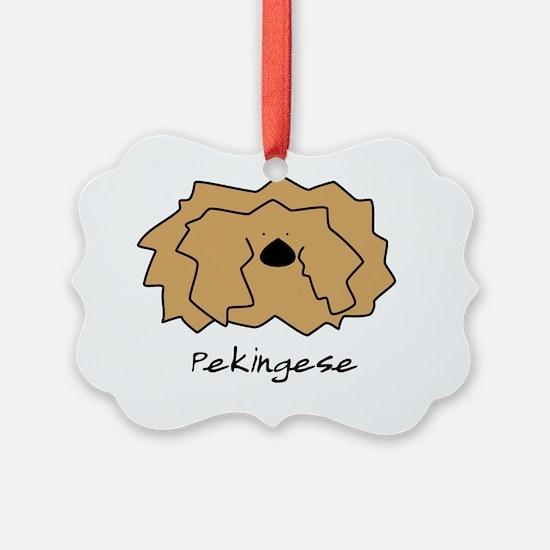 fuzzy_pekingese_10x10 Ornament