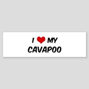 I Love: Cavapoo Bumper Sticker