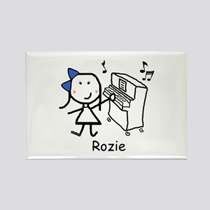 Piano - Rozie Rectangle Magnet