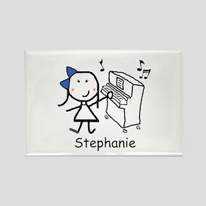 Piano - Stephanie Rectangle Magnet