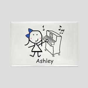 Piano - Ashley Rectangle Magnet