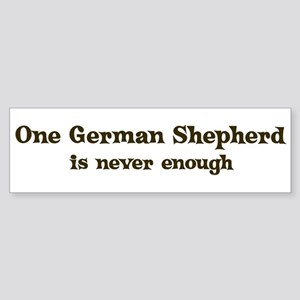 One German Shepherd Bumper Sticker