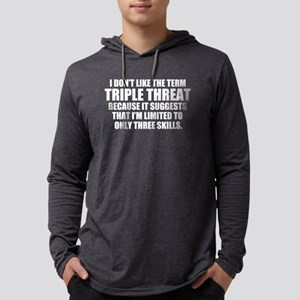 Triple Threat Mens Hooded Shirt