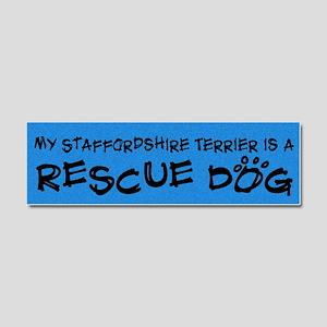 rescuedog_staffordshire Car Magnet 10 x 3