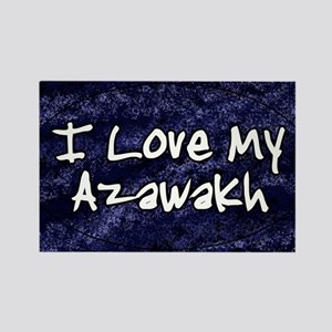 funklove_oval_azawakh Rectangle Magnet