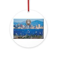 San Diego Police Skyline Ornament (Round)
