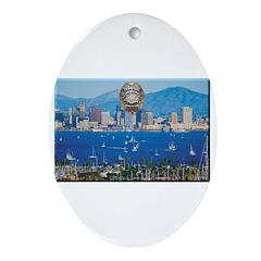San Diego Police Skyline Ornament (Oval)