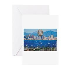 San Diego Police Skyline Greeting Cards (Pk of 10)