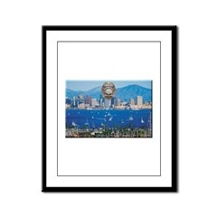 San Diego Police Skyline Framed Panel Print