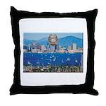 San Diego Police Skyline Throw Pillow
