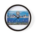 San Diego Police Skyline Wall Clock