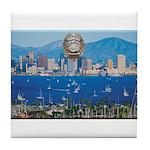 San Diego Police Skyline Tile Coaster