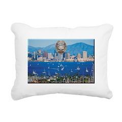 San Diego Police Skyline Rectangular Canvas Pillow
