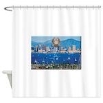 San Diego Police Skyline Shower Curtain
