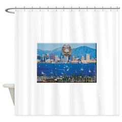 San Diego Police Skyline Shower Curtain