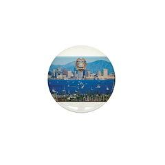 San Diego Police Skyline Mini Button (10 pack)