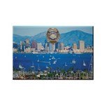 San Diego Police Skyline Rectangle Magnet (10 pack