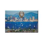 San Diego Police Skyline Rectangle Magnet