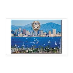 San Diego Police Skyline Rectangle Car Magnet