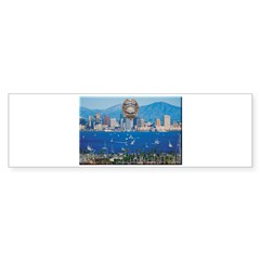 San Diego Police Skyline Bumper Bumper Sticker