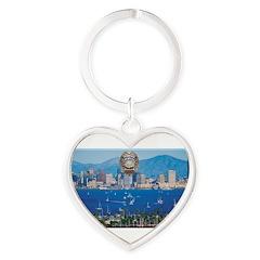 San Diego Police Skyline Keychains