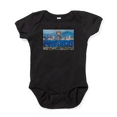 San Diego Police Skyline Baby Bodysuit