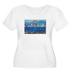 San Diego Police Skyline Plus Size T-Shirt