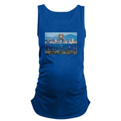 San Diego Police Skyline Maternity Tank Top