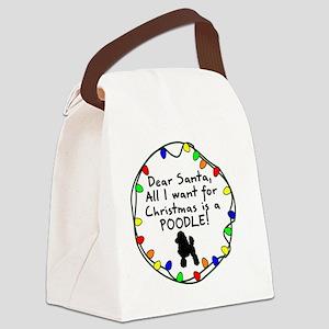 ds_poodle Canvas Lunch Bag