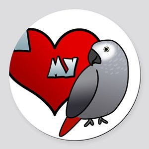 iheartmy_congo_blk Round Car Magnet