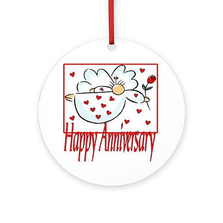 Happy Anniversary Ornament (Round)