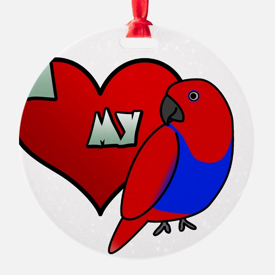 iheartmy_rs_hen_blk Ornament