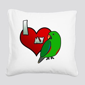 iheartmy_rs_male Square Canvas Pillow