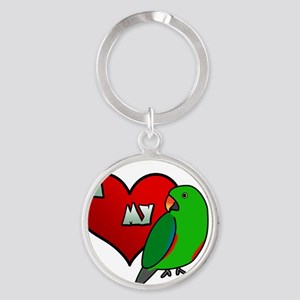 iheartmy_rs_male Round Keychain