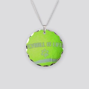 flyball_life_hat Necklace Circle Charm