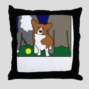heightdogsrule_blk Throw Pillow